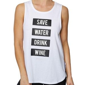NWT Betsey Johnson Save Water Drink Wine Tank Top